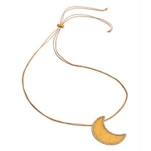 TORY BURCH Celestial Crescent Moon Necklace